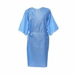 Unstitched nps Blue Disposable Patient Gown, Size: S And L