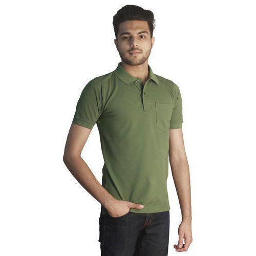 1b5a5928e481 Green Colour Premium Cotton Rich Polo Neck T-Shirts at Rs 420 /piece ...