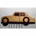 Car Shaped Wooden Key Holder