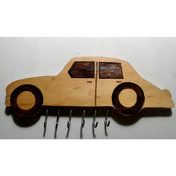 Car Shaped Wooden Key Holder