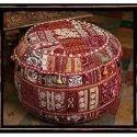 Vintage Sari Kantha Ottomans