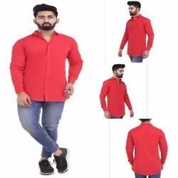SPK Solid Red Color Men''s Shirt