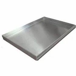 Jg Acero Rectangle Stainless Steel Trays, Polished, for Industrial