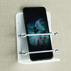 Acrylic Mobile Phone Wall Stand Mobile Holder For Smartphones Home & Office - Acrylic Mobile Holder