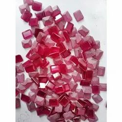 Red Synthetic Gemstone ( One Side )