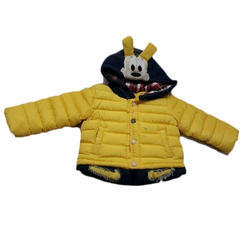 Kids Yellow Hooded Jacket