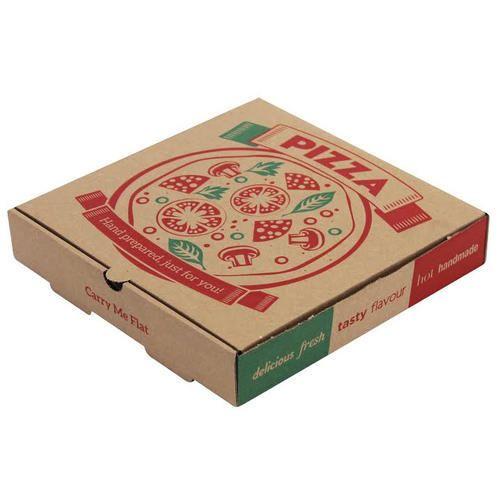 갈색 종이 피자 상자, 크기 : 10 x 10 x 1.5 인치, Rs 7 / piece Manya ...