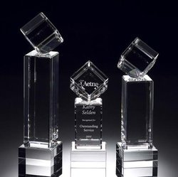 3D Crystal Engraving Trophy