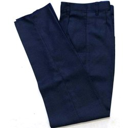 Cotton Plain Men's Blue Pant
