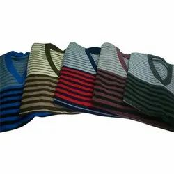V Neck Men's Striped Pullover Sweater