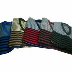 V Neck Men's Striped Pullover Sweater