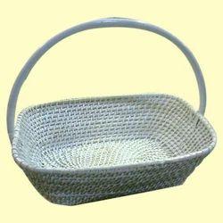 Woven Fruits Cane Basket
