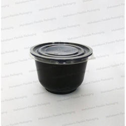 Mahalaxmi Black Round Curry Containers