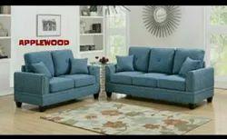 Applewood Blue Living Room Wooden Sofa Set