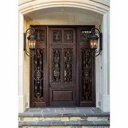 Brown Antique Wooden Grill Door