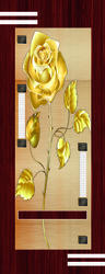 Golden Flower Printed Digital PVC Door