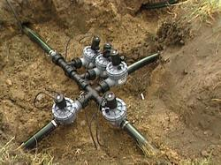Underground Pipes Process Sprinkler