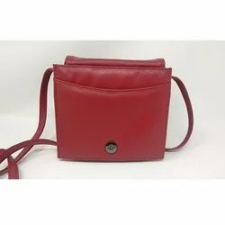 Red Designer Ladies Side Bag