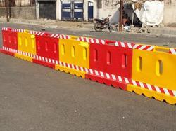 Yellow Road Barriers