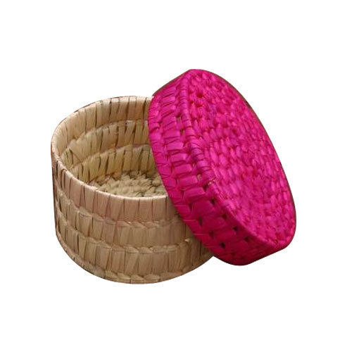 Pink Skin Palm Leaf Bangle Box Rs 70 Piece Hasmi Handicrafts