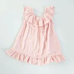 Eco cotton kids solid frocks