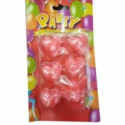 Red Heart Shaped Party Candle