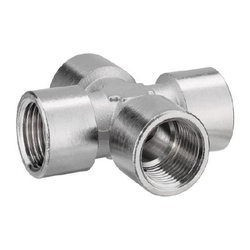 MS Pipe Cross Connector