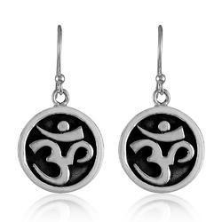 Big True Emotion 925 Sterling Silver Om Dangle Earrings