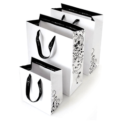 Imported Paper Printed Paper Shopping Bag, For Packaging