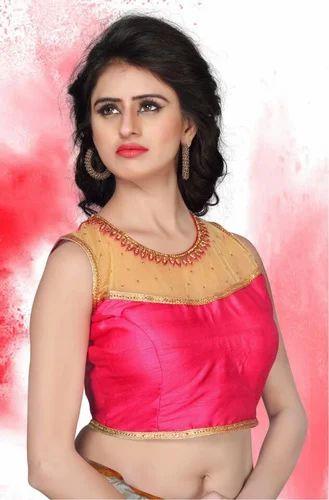 c29631e982e756 Stitched Peach Women Designer Blouse 1617, Size: Free Size (Max upto 38'