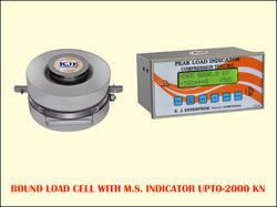 Round Load Cell with Indicator Up To  - 2000  KN