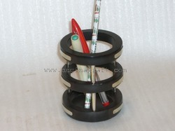 Wooden Pen Holder, Size: 3.1 X 3.1 X 4.1 Inches