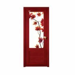 Red PVC Bathroom Door