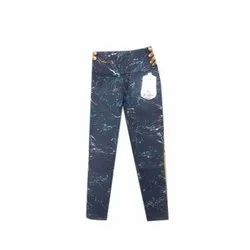 C-Bon Stretchable Ladies Printed Denim Jeans, Waist Size: 32 to 40 Inch, Packaging Type: Packet