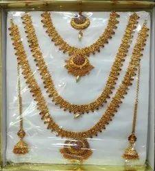 Golden South Indian Matt Marriage Set