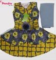 Cotton Printed Frock With Legging Set