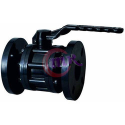 Black PP Ball Valve Flange End