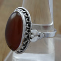 Red Onyx Gemstone 925 Sterling Silver Beautiful Jewelry Ring