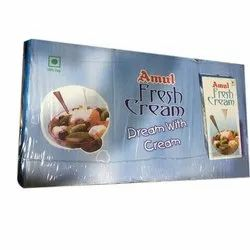 Cool And Dry Place Amul Fresh Cream, Quantity Per Pack: 12 Pack In Box