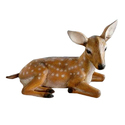 Multicolor Marble Effect Frp Deer Statue, For Interior And Exterior Decor, Glossy