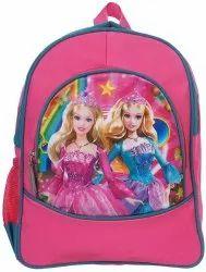 Polyester 12 Ltr Pink School Bag