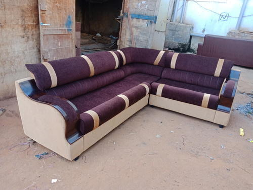 Brown Wooden Corner Sofa Set Polish Handle With 3 Year Warranty Branded Rs 25000 Set Id 20089713697