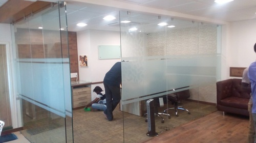 Office Glass Cabin Partition Glass Cabin Partition