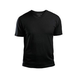 Mens Cotton V Neck T Shirt, Size: S-XXL