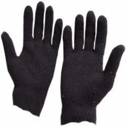 909fe5a70 Full Finger Black Knitted Gloves, Rs 6 /pair Sri Vinayaka Enterprises   ID:  14563978655
