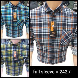 FDI Checks Mens Designer Cotton Check Shirt, Size: M-xxl, Handwash