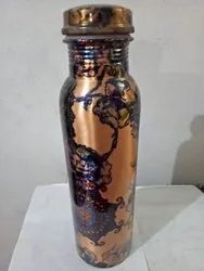 Multi Colors Copper Bottle, Capacity: 1 Litre