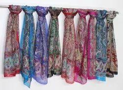100% Pure Tabby Silk Scarfs
