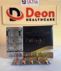 CALFIX-K27 CAP (L-Methylfolate,Vitamin K2-7,Methylcobalamin,Calcium Citrate, Omega 3 Fatty Acid)