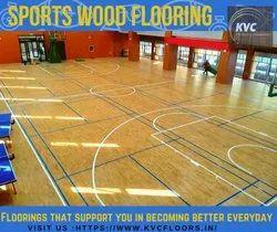 KVC Maple Badminton Wooden Flooring, Finish Type: Matte, Sports